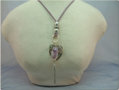 Collier Hearts Lilac