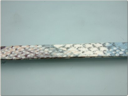 Trendy plat koord snake blue, 10x2 mm (50 cm)